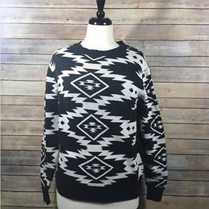 Narrows Sweater Aztec Print Size Small F1